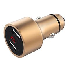 3.1A Adaptateur de Voiture Chargeur Rapide Double USB Port Universel pour Huawei Mate 30 5G Or