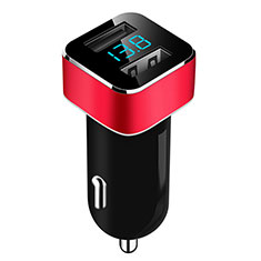 3.1A Adaptateur de Voiture Chargeur Rapide Double USB Port Universel pour Google Pixel 3 XL Rouge
