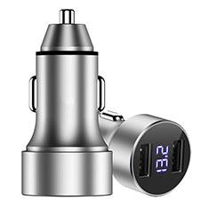 3.4A Adaptateur de Voiture Chargeur Rapide Double USB Port Universel Argent