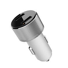 3.4A Adaptateur de Voiture Chargeur Rapide Double USB Port Universel K05 pour Wiko Barry Argent