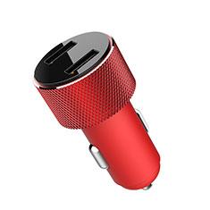 3.4A Adaptateur de Voiture Chargeur Rapide Double USB Port Universel K05 pour Sony Xperia XZ2 Premium Rouge