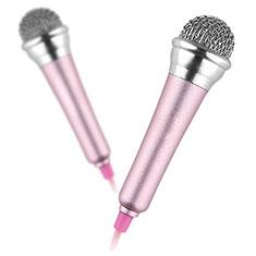3.5mm Mini Microphone de Poche Elegant Karaoke Haut-Parleur avec Support M12 pour Samsung Galaxy Z Fold2 5G Rose
