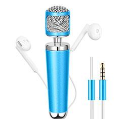3.5mm Mini Microphone de Poche Elegant Karaoke Haut-Parleur pour Wiko Bloom 2 Bleu Ciel