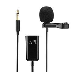 3.5mm Mini Microphone de Poche Elegant Karaoke Haut-Parleur K01 pour Wiko Bloom 2 Noir