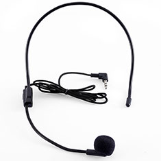 3.5mm Mini Microphone de Poche Elegant Karaoke Haut-Parleur K03 pour Apple MacBook Air 13.3 2018 Noir