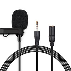 3.5mm Mini Microphone de Poche Elegant Karaoke Haut-Parleur K06 pour Apple MacBook Air 13.3 2018 Noir