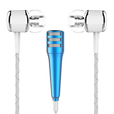 3.5mm Mini Microphone de Poche Elegant Karaoke Haut-Parleur M01 pour Samsung Galaxy Z Fold2 5G Bleu