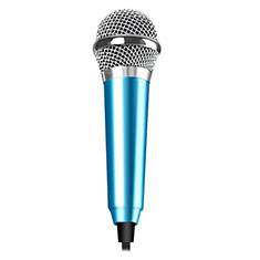 3.5mm Mini Microphone de Poche Elegant Karaoke Haut-Parleur M04 pour Wiko Bloom 2 Bleu Ciel