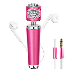 3.5mm Mini Microphone de Poche Elegant Karaoke Haut-Parleur pour Apple iPhone 11 Rose