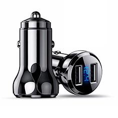 4.8A Adaptateur de Voiture Chargeur Rapide Double USB Port Universel K09 pour Sony Xperia XZ1 Noir
