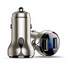 4.8A Adaptateur de Voiture Chargeur Rapide Double USB Port Universel K09 pour Wiko Barry Or