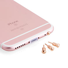 Bouchon Anti-poussiere Jack 3.5mm Android Apple Universel D05 pour Wiko Bloom Or Rose