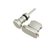 Bouchon Anti-poussiere Lightning USB Jack J01 pour Apple iPhone 12 Mini Argent