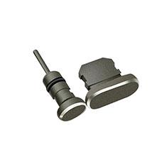Bouchon Anti-poussiere Lightning USB Jack J01 pour Apple iPhone 12 Pro Max Noir