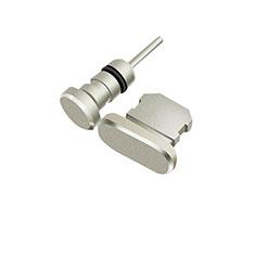 Bouchon Anti-poussiere Lightning USB Jack J01 pour Apple iPod Touch 5 Argent