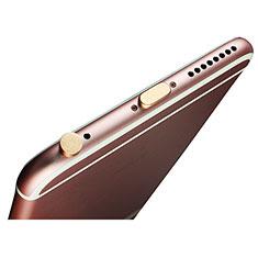Bouchon Anti-poussiere Lightning USB Jack J02 pour Apple iPad Pro 12.9 (2018) Or