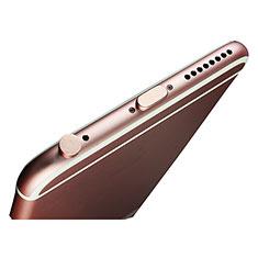 Bouchon Anti-poussiere Lightning USB Jack J02 pour Apple iPad Pro 12.9 (2018) Or Rose