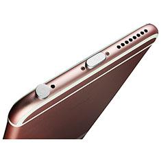 Bouchon Anti-poussiere Lightning USB Jack J02 pour Apple iPhone 11 Argent
