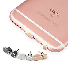 Bouchon Anti-poussiere Lightning USB Jack J04 pour Apple iPhone 5C Or Rose