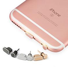Bouchon Anti-poussiere Lightning USB Jack J04 pour Apple iPhone 5C Or Rose