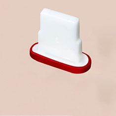 Bouchon Anti-poussiere Lightning USB Jack J07 pour Apple iPhone 11 Pro Max Rouge