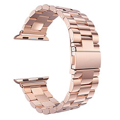 Bracelet Metal Acier Inoxydable pour Apple iWatch 3 42mm Or Rose