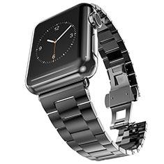 Bracelet Metal Acier Inoxydable pour Apple iWatch 42mm Noir