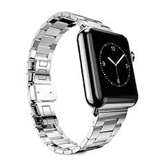 Bracelet Metal Acier Inoxydable pour Apple iWatch 5 44mm Argent