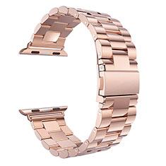 Bracelet Metal Acier Inoxydable pour Apple iWatch 5 44mm Or Rose