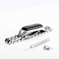 Bracelet Metal Acier Inoxydable pour Xiaomi Mi Band 3 Argent