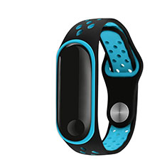 Bracelet Silicone Souple pour Xiaomi Mi Band 3 Bleu Ciel