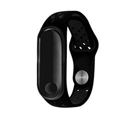 Bracelet Silicone Souple pour Xiaomi Mi Band 3 Noir