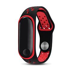 Bracelet Silicone Souple pour Xiaomi Mi Band 3 Rouge