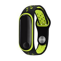 Bracelet Silicone Souple pour Xiaomi Mi Band 3 Vert