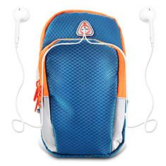 Brassard Sport Coque Losange Universel B01 pour Huawei Enjoy 9 Plus Bleu