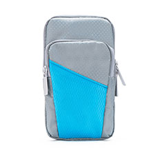 Brassard Sport Coque Losange Universel B09 pour Nokia 8110 2018 Gris