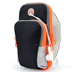 Brassard Sport Coque Losange Universel B18 pour Huawei Ascend Y330 Noir