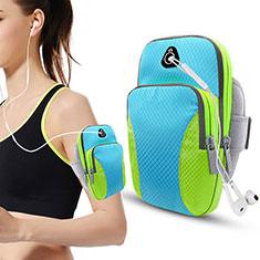 Brassard Sport Coque Losange Universel B21 pour HTC Butterfly 2 Bleu Ciel
