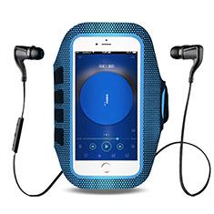 Brassard Sport Housse Universel B17 pour HTC Butterfly 2 Bleu