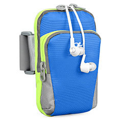 Brassard Sport Housse Universel B22 pour HTC 8X Windows Phone Bleu