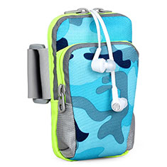Brassard Sport Housse Universel B23 pour HTC 8X Windows Phone Bleu