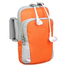 Brassard Sport Housse Universel B24 pour Samsung Galaxy Note 4 Orange