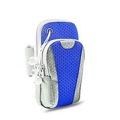 Brassard Sport Housse Universel B32 pour Huawei Y6 Bleu