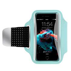 Brassard Sport Housse Universel B35 pour HTC Butterfly 2 Bleu