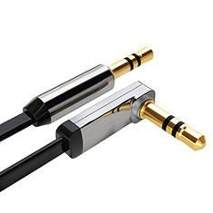 Cable Auxiliaire Audio Stereo Jack 3.5mm Male vers Male A02 pour Huawei Honor Magic 2 Noir