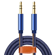 Cable Auxiliaire Audio Stereo Jack 3.5mm Male vers Male A05 pour Huawei Honor Magic 2 Bleu