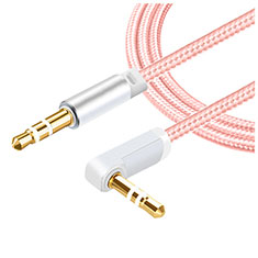Cable Auxiliaire Audio Stereo Jack 3.5mm Male vers Male A08 pour Huawei Honor Magic 2 Rose