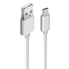 Cable Type-C Android Universel T04 pour Huawei Honor Magic 2 Argent