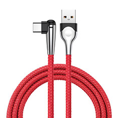 Cable Type-C Android Universel T17 pour Orange Rise 51 Rouge