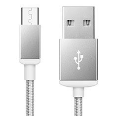 Cable USB 2.0 Android Universel A02 pour Huawei Honor Magic 2 Argent